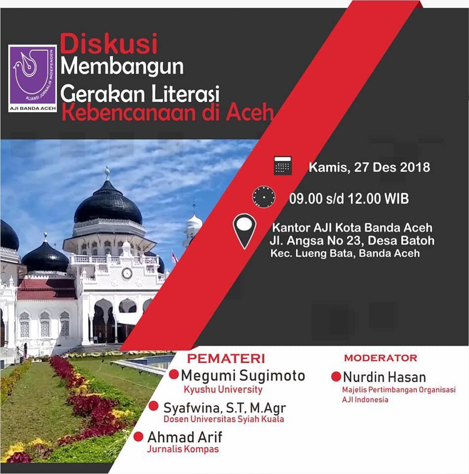 Membangun Gerakan Literasi Kebencanaan Di Aceh