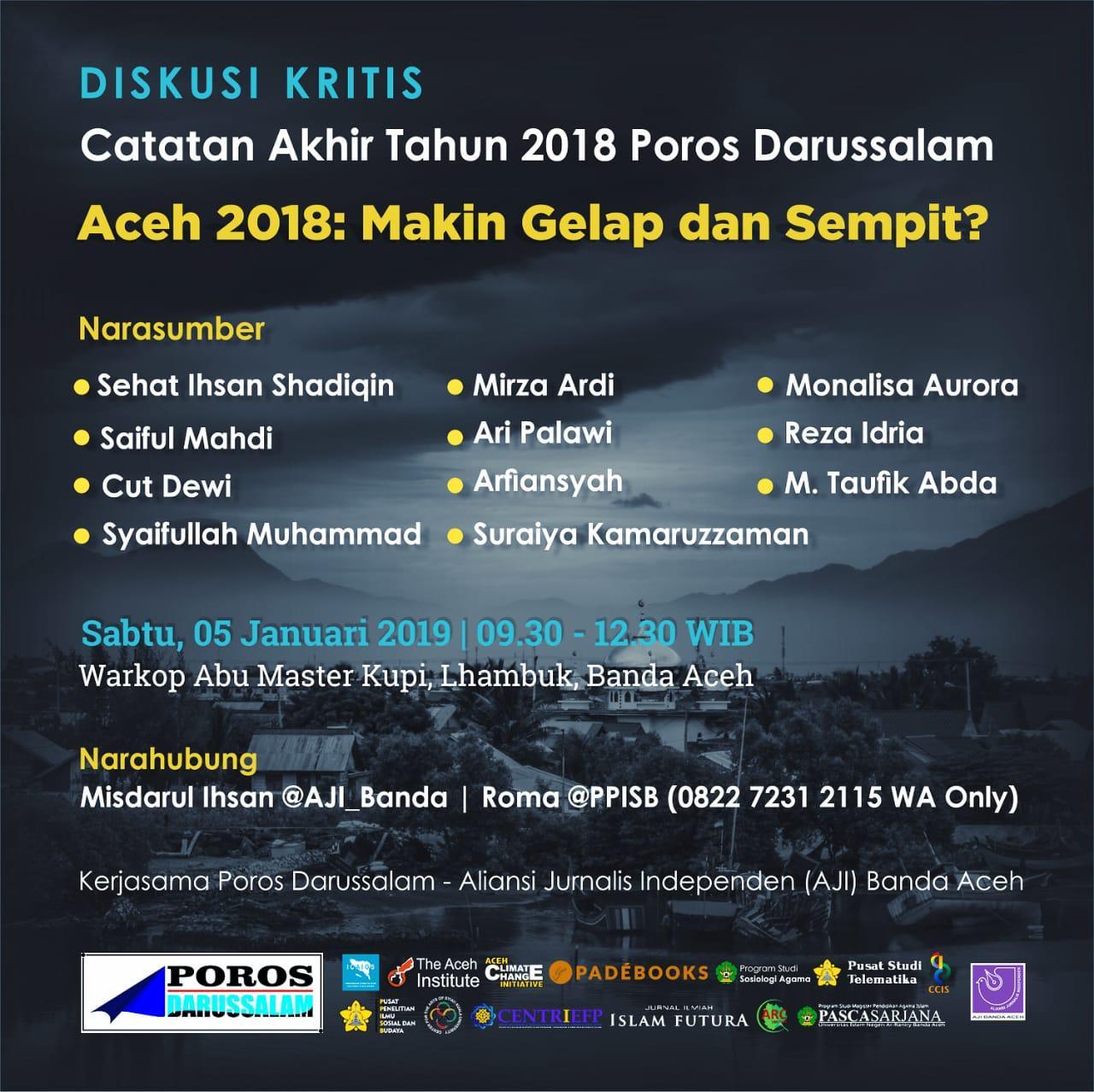 Diskusi Akhir tahun 2018 untuk Aceh